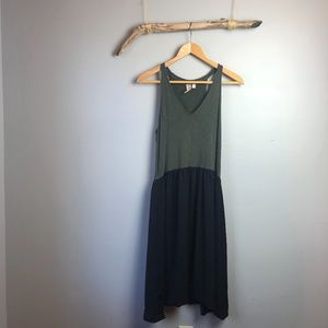 Dolan | Anthro Sleeveless Two-tone Midi Dress